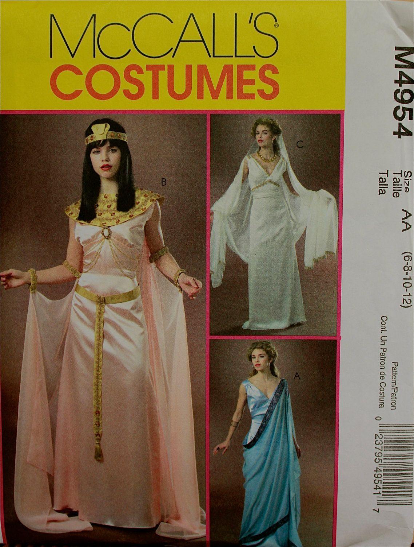 Cleopatra, Greek & Roman Goddess McCall\'s Costume Pattern 4954 Uncut ...