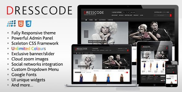 Dresscode Responsive Nopcommerce Theme By Etheme On Themeforest Is Premium Which Can Be Used According To Your
