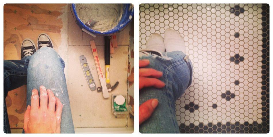 Choosing vintage style hex tile...