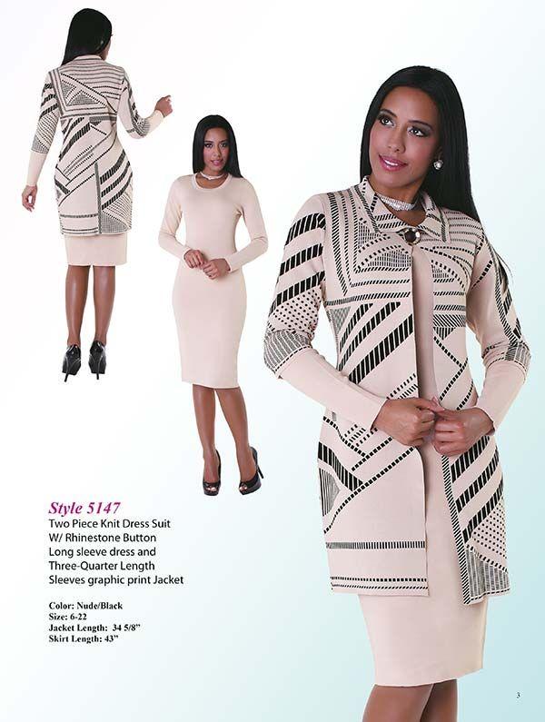 Kayla 5147 Womens Two Piece Knit Dress Suit Lady S Church Suits