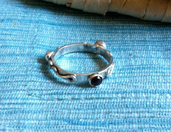 Sterling Silver Gemstone Ring Band  Custom  Eco by TheBleuGiraffe, $42.00