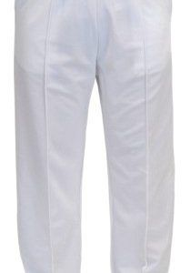 Mens Bowling Trouser Elasticated Waist Cricket Golf Trousers (X-Large, White)