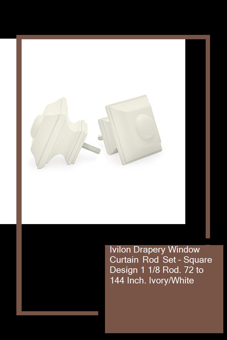 Ivilon Drapery Window Curtain Rod Set Square Design 1 1 8 Rod