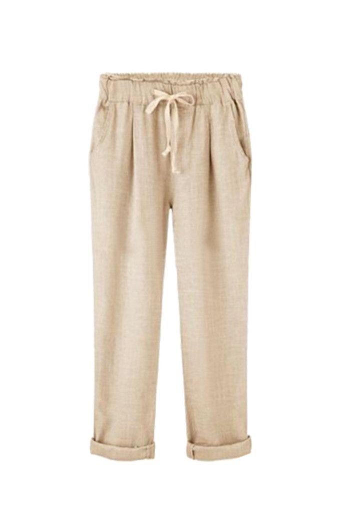 { 3 colors } 'Josée' Linen Trousers