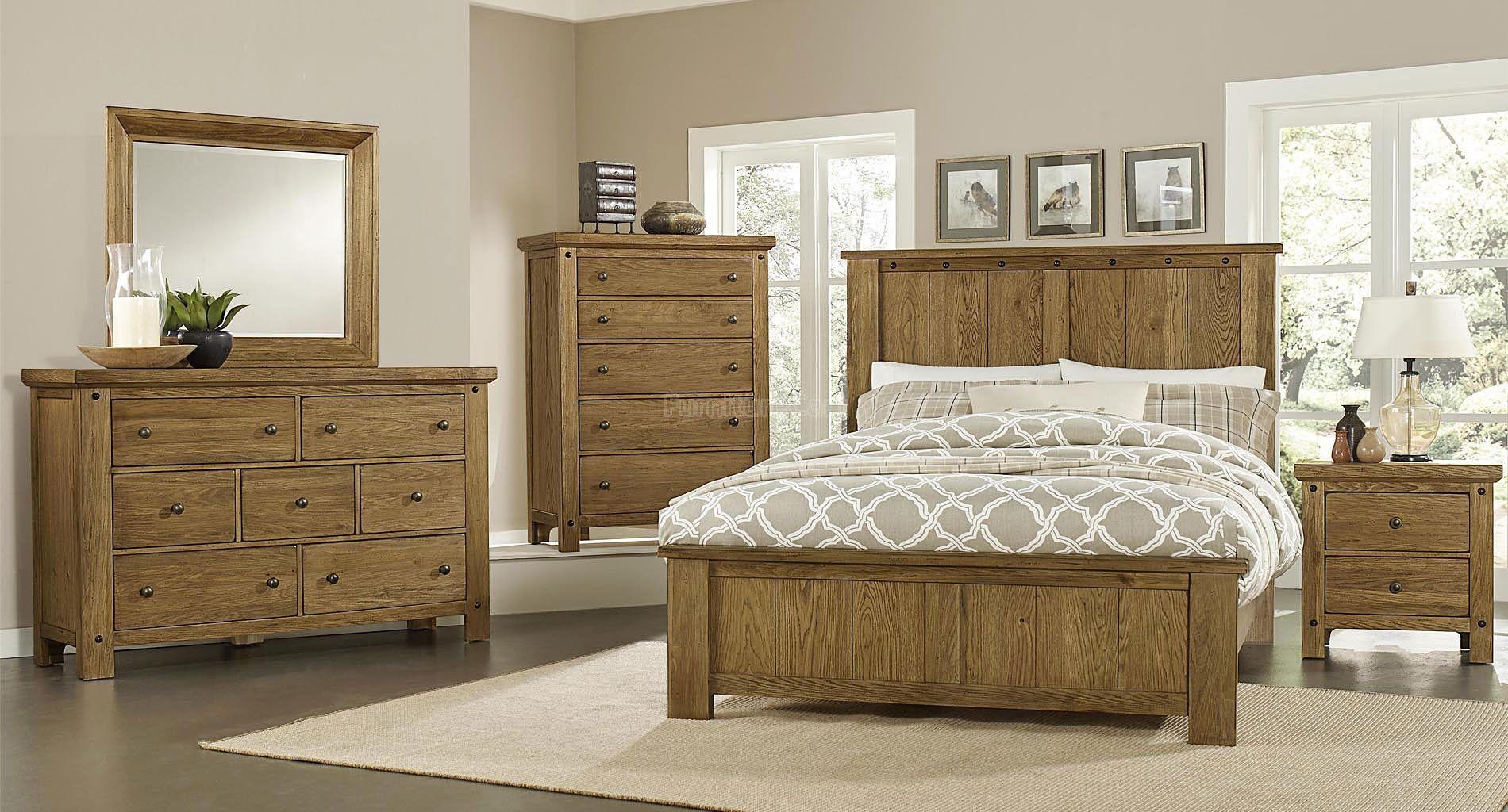 collaboration panel bedroom set oak vaughan bassett furniture