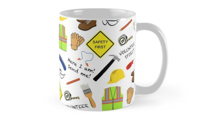 0a556325cb Inspired by relief work and volunteer construction. Features safety PPE and  hand tools. • Also buy this artwork on home decor