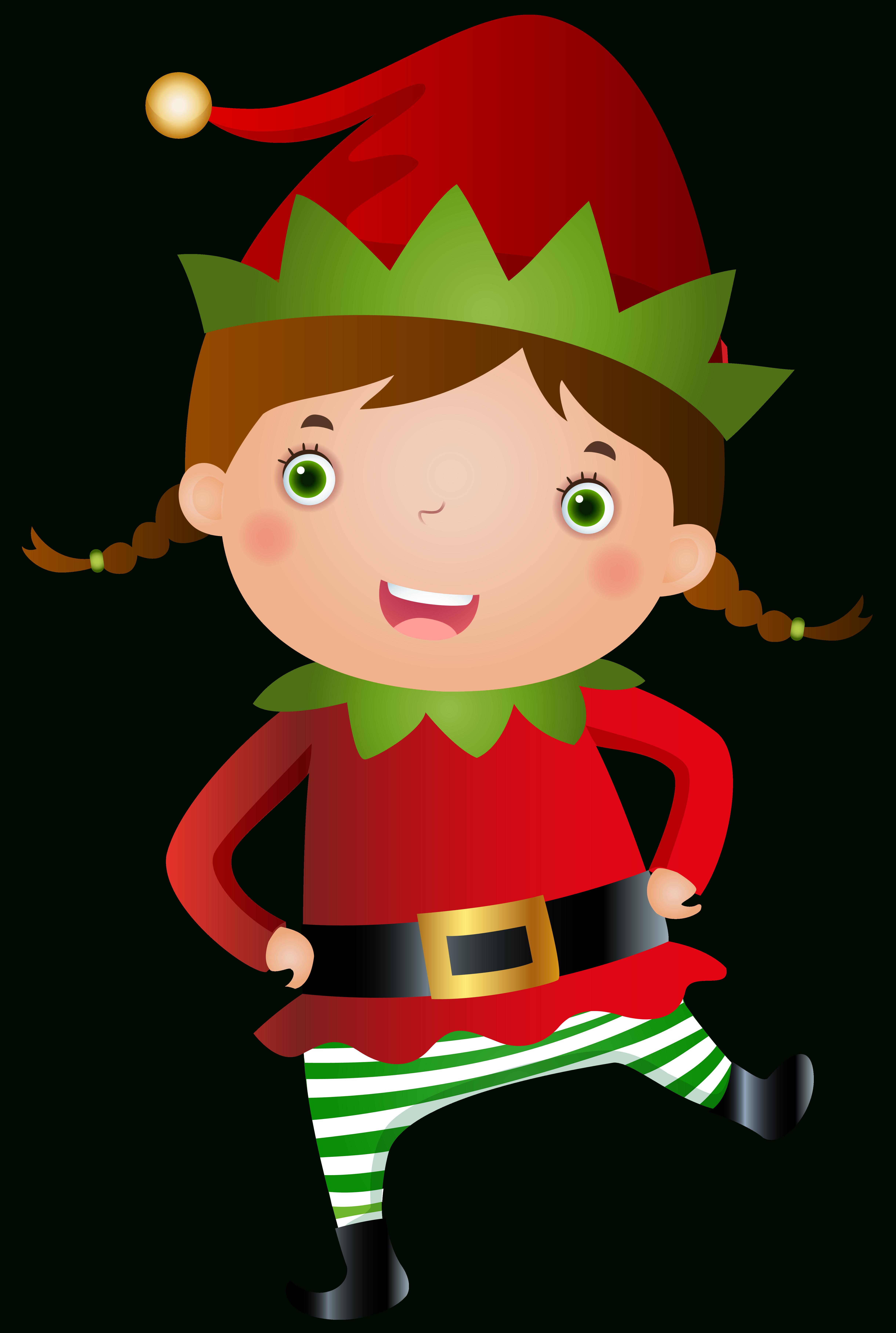 girl elf clipart [ 4882 x 7262 Pixel ]