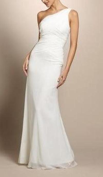 b28507a4b2 Nicole Miller Silk One Shoulder Grecian Bridal Gown 12  880 Ea0039 Wedding  Dress. Nicole Miller Silk One Shoulder Grecian Bridal Gown 12  880 Ea0039  Wedding ...
