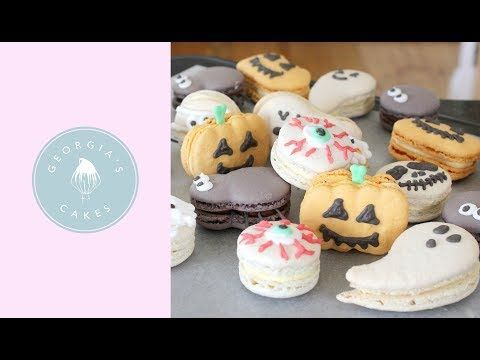 Trick Or Treat Halloween Macarons! | Georgia's Cakes - YouTube #halloweenmacarons Trick Or Treat Halloween Macarons! | Georgia's Cakes - YouTube #halloweenmacarons