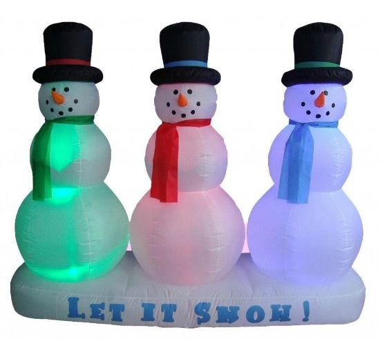 Inflatable snowmen yard decoration - \ - christmas blow up decorations