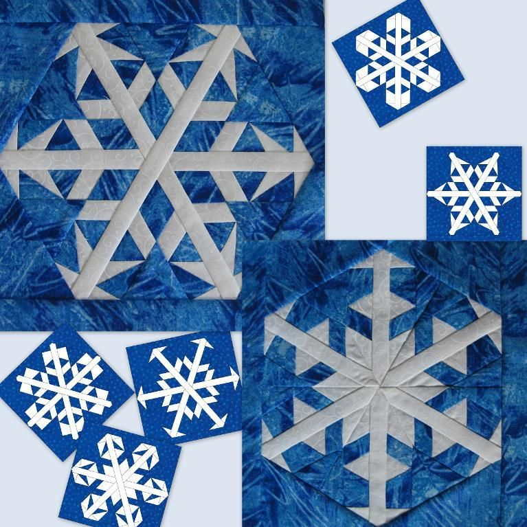 Snowflakes 5 and 6   Paper piecing, Patterns and Designers : snowflake quilting design - Adamdwight.com