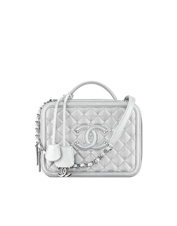 6430ed769 The latest fashion shows, ready-to-wear & accessories collections and Haute  Couture on the CHANEL official website || Silver Chanel Vanity Case.