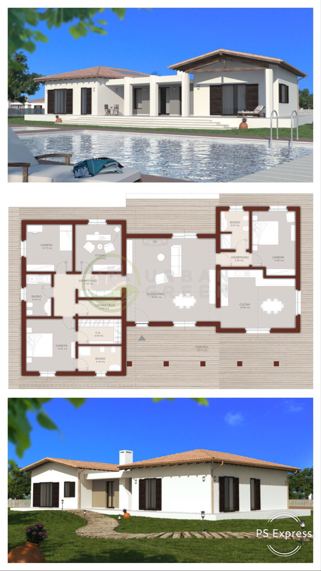Casa In Legno Monopiano Modello Urb19 Progetto Abitazione