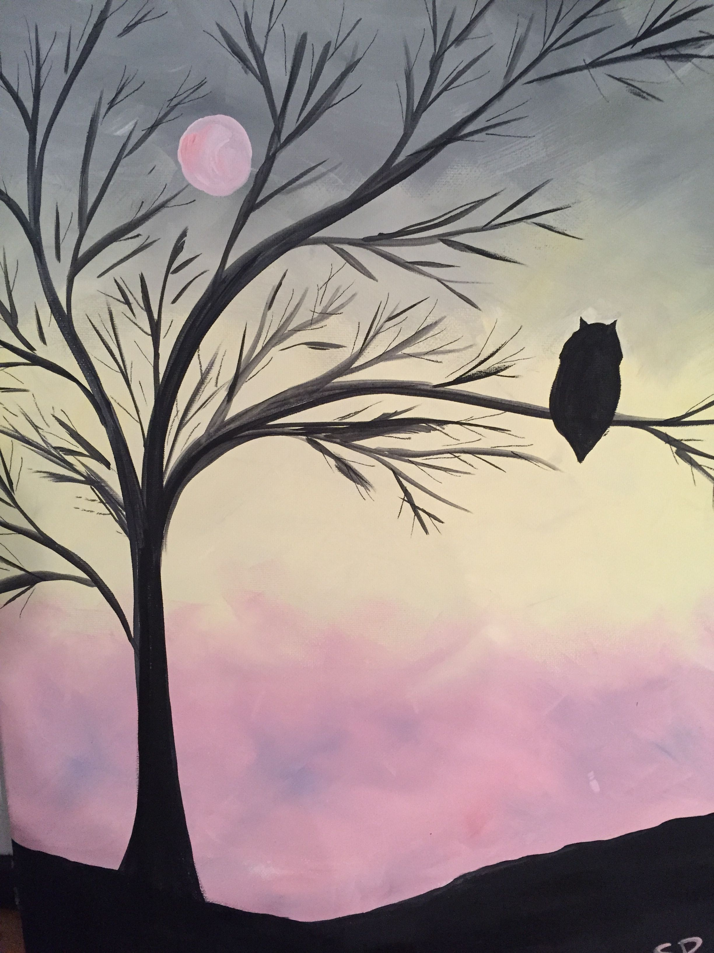 Come out for Paint Night For Grown Ups to an establishment near you. No Experience Needed - we show you how - step by step!