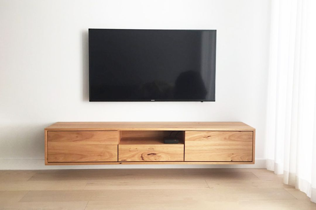 Custom Timber Floating Entertainment Units Made In Melbourne By