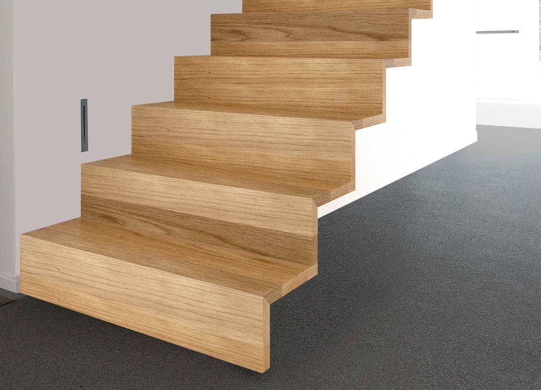 © Decotrap - Model 510Z. Moderne trap rechte hoek, zwevend