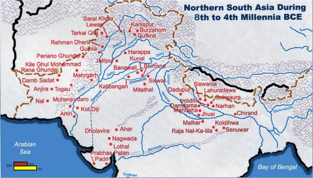 Indus Valley Civilization A map of the Indus Valley
