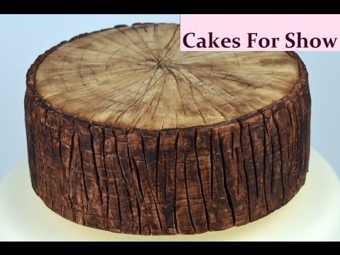 This Is How I Made A Simple Bark Effect In Sugarpaste
