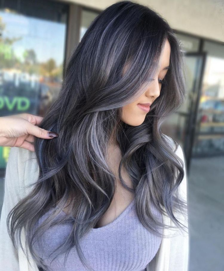 Haare grau kann färben dunkle man Schwarze Haare