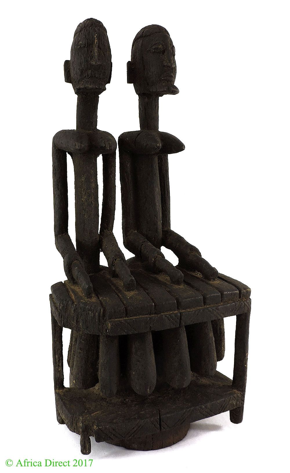 Dogon Xylophone Players Seated Mali African Art