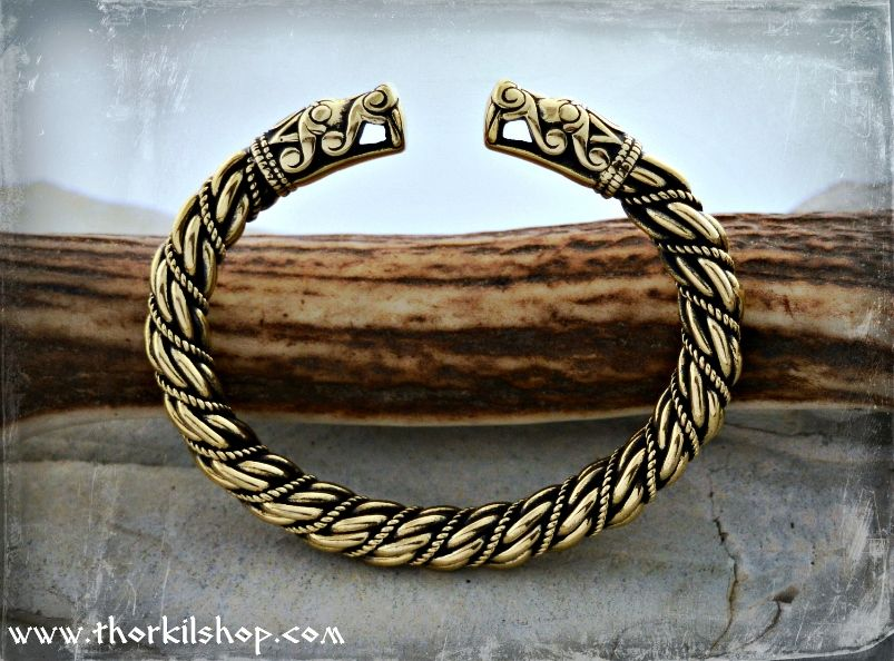 Bracelet acier bangle dragon viking celte nordique