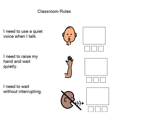 Boardmaker Achieve Classroom Rules Hand Raising Executive