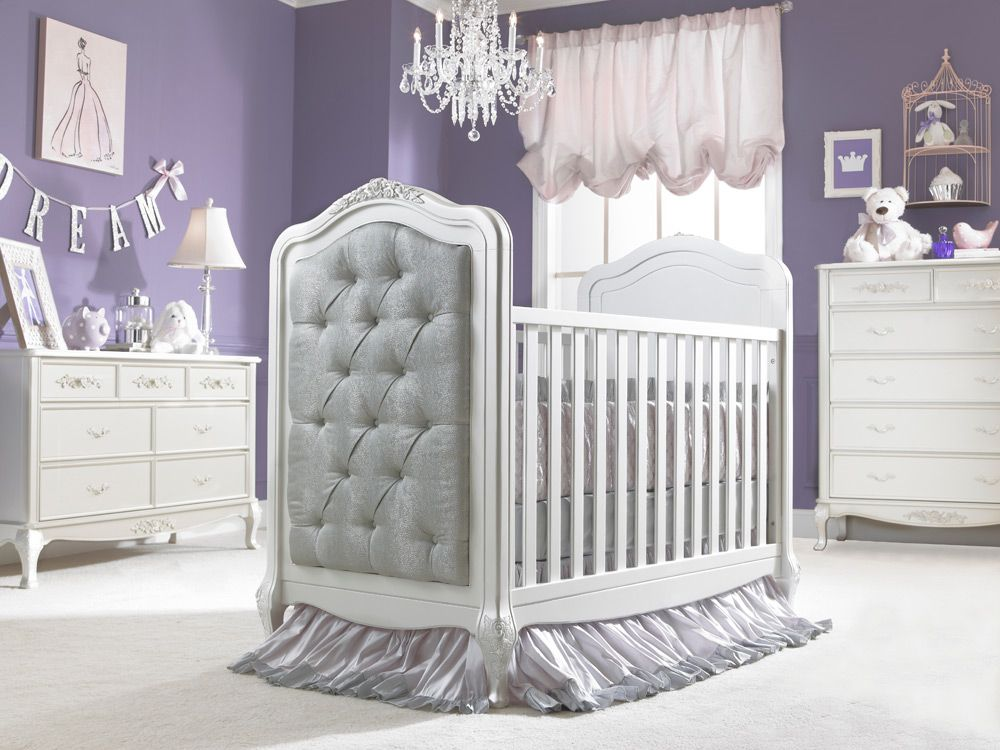 High Quality Dolce Babi | Angelina Collection Upholstered Crib   Pearl Finish (Room  Color: Sherwin Williams 6550)
