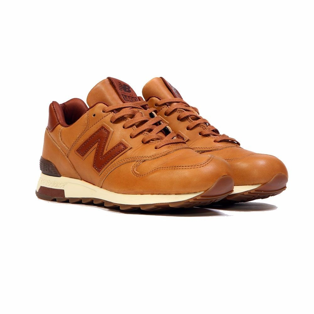 New balance m1400bh made in usa horween leather bespoke tan brown men's  shoes