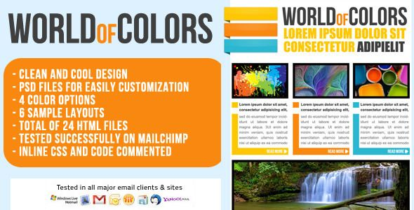 World Of Colors Email Template  Newsletter  World Has Features