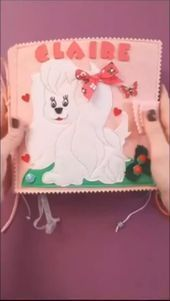 Create your personal book for your baby Custom Felted Quiet book for baby girl 1 year old by Quetbookshop Personalized princess castle dog panda flower busy book in pink...
