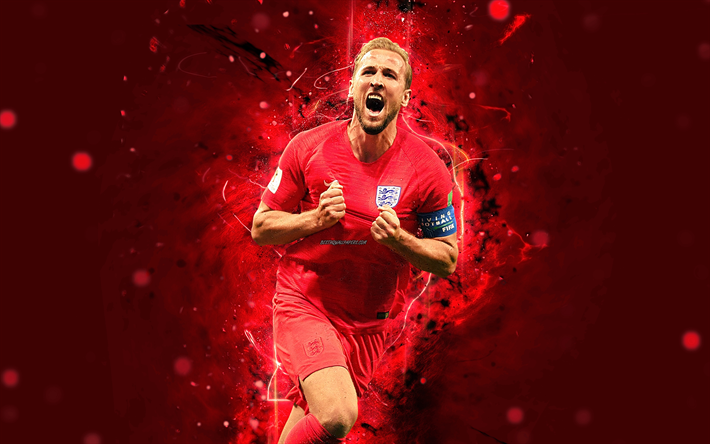 Download Wallpapers Harry Kane 4k Abstract Art England National Team Fan Art Kane Soccer Footballers Neon Lights English Football Team Besthqwallpapers English Football Teams England National Team England National