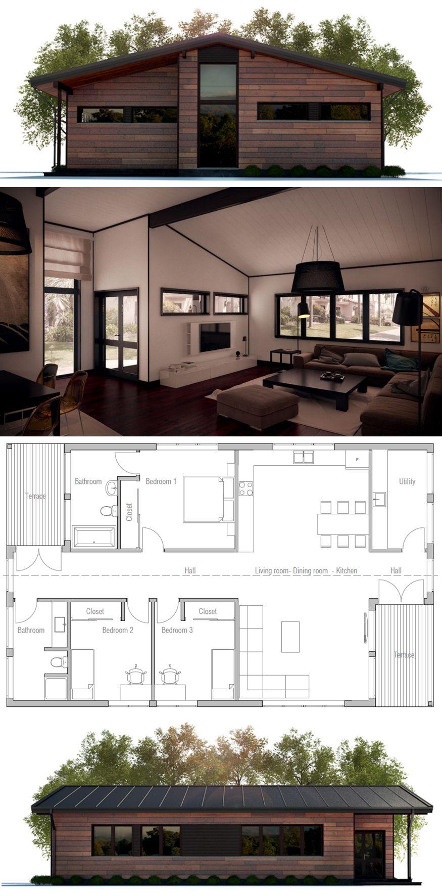 Grundrisse, Kühlen Häusern, Moderne Häuser, Kleine Häuser, Kühlen  Hauspläne, Kleine Haushaltspläne, Architektur Design, Grundrisse, Baum Forts