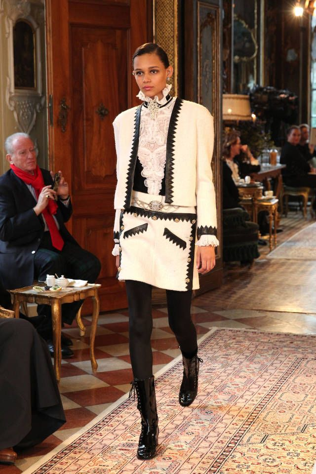 Your first look at Chanel's Pre-Fall 2015 runway show in Salzburg, Austria.
