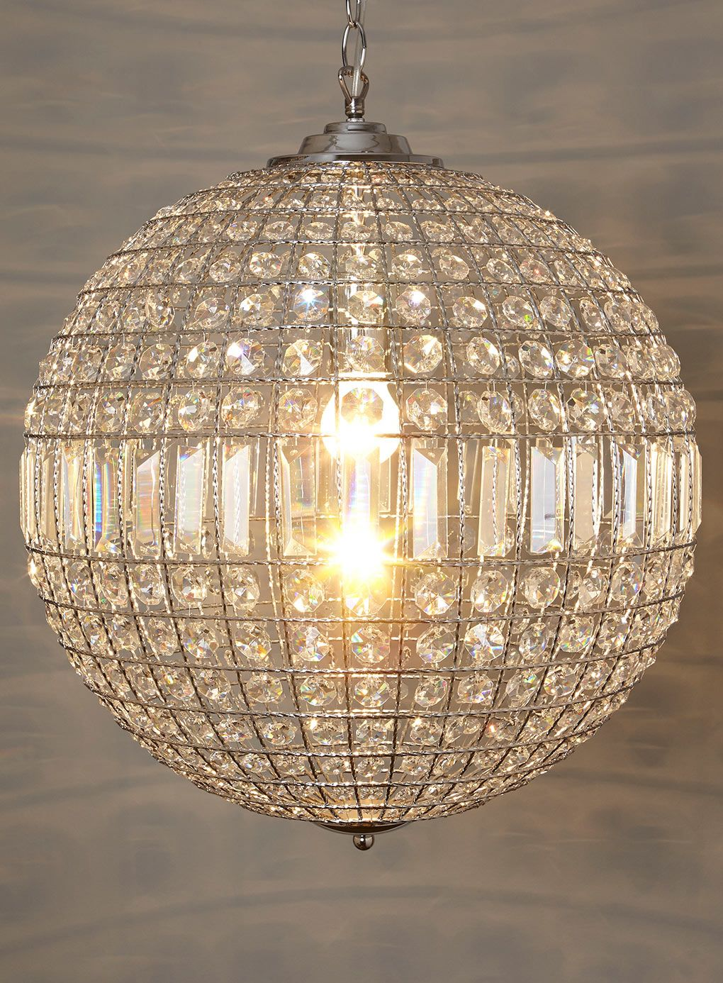 Ursula large crystal ball pendant - lighting - home ...