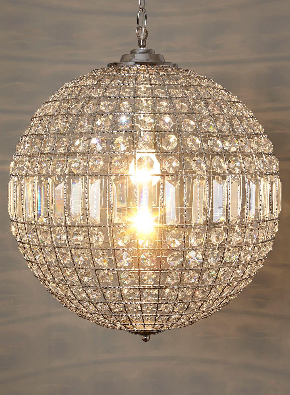Ursula Large Crystal Ball Pendant Lighting Home Lighting