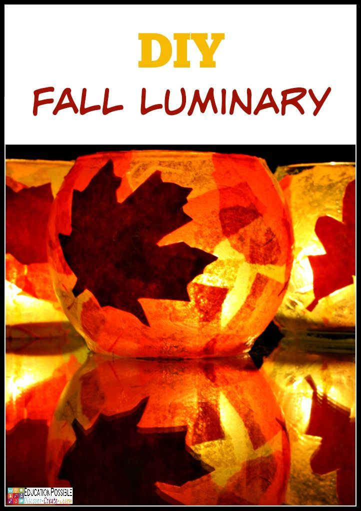 diy crafts fall craft autumn frugal luminaries simple teens luminary decor fun easy projects educationpossible arts ages activities step piece