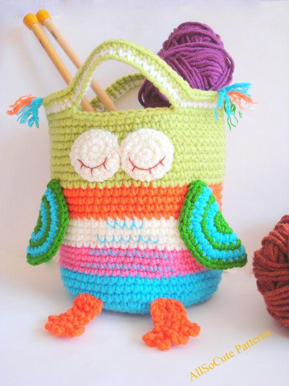 Crochet Bag Pattern Girls Purse, INSTANT DOWNLOAD PDF, Crochet Owl ...