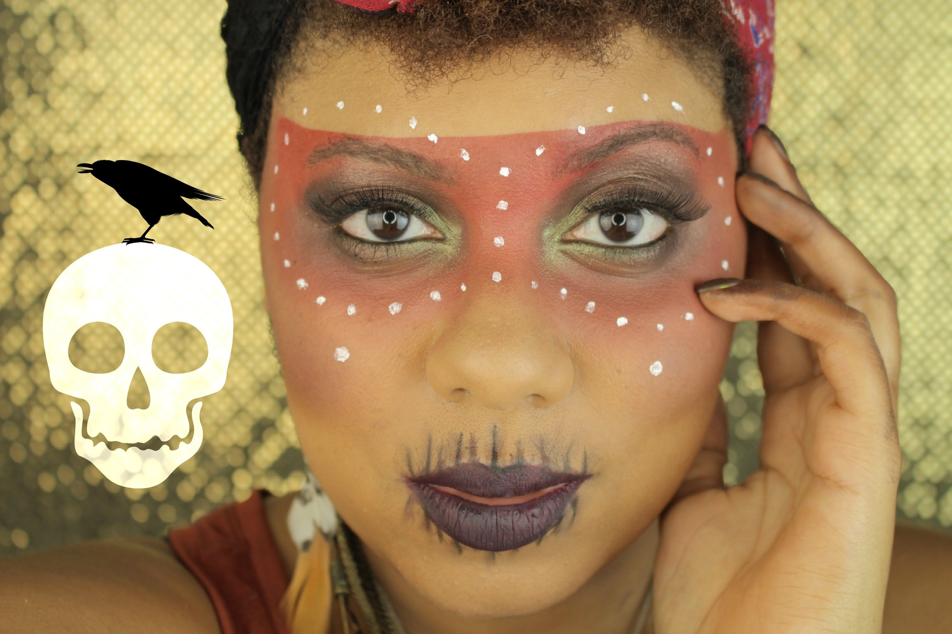 Easy Voodoo Witch Doctor Halloween Makeup Tutorial | MiKayla ...