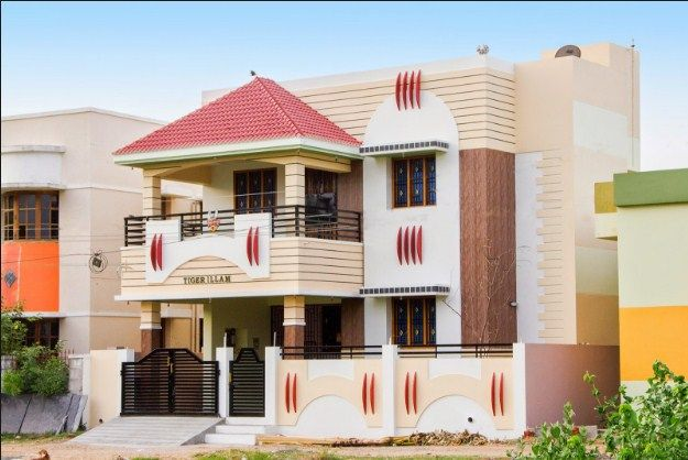 House Front Portico Design Hiqra In 2019 Indian Home Design