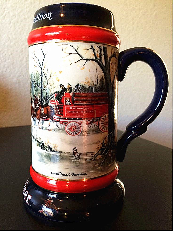 1990 Budweiser Beer Stein. It's in good condition. Get it on 5miles for $9.99. #5milesapp #Collectibles & Art.
