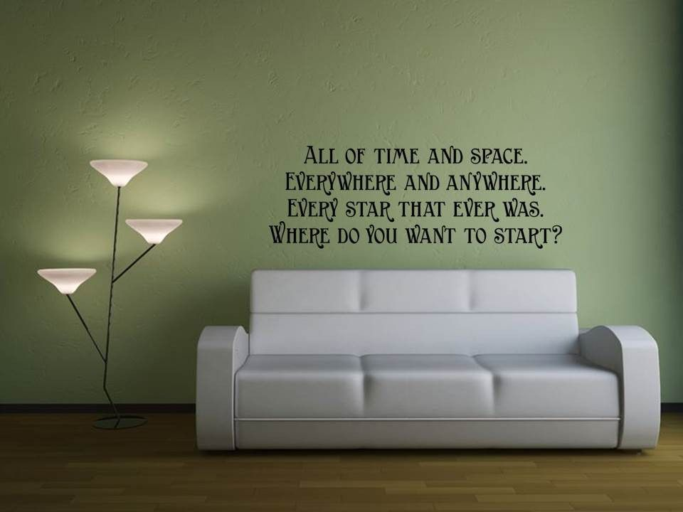All Of Time U0026 Space Wall Art. Doctor Who BedroomQuote ...