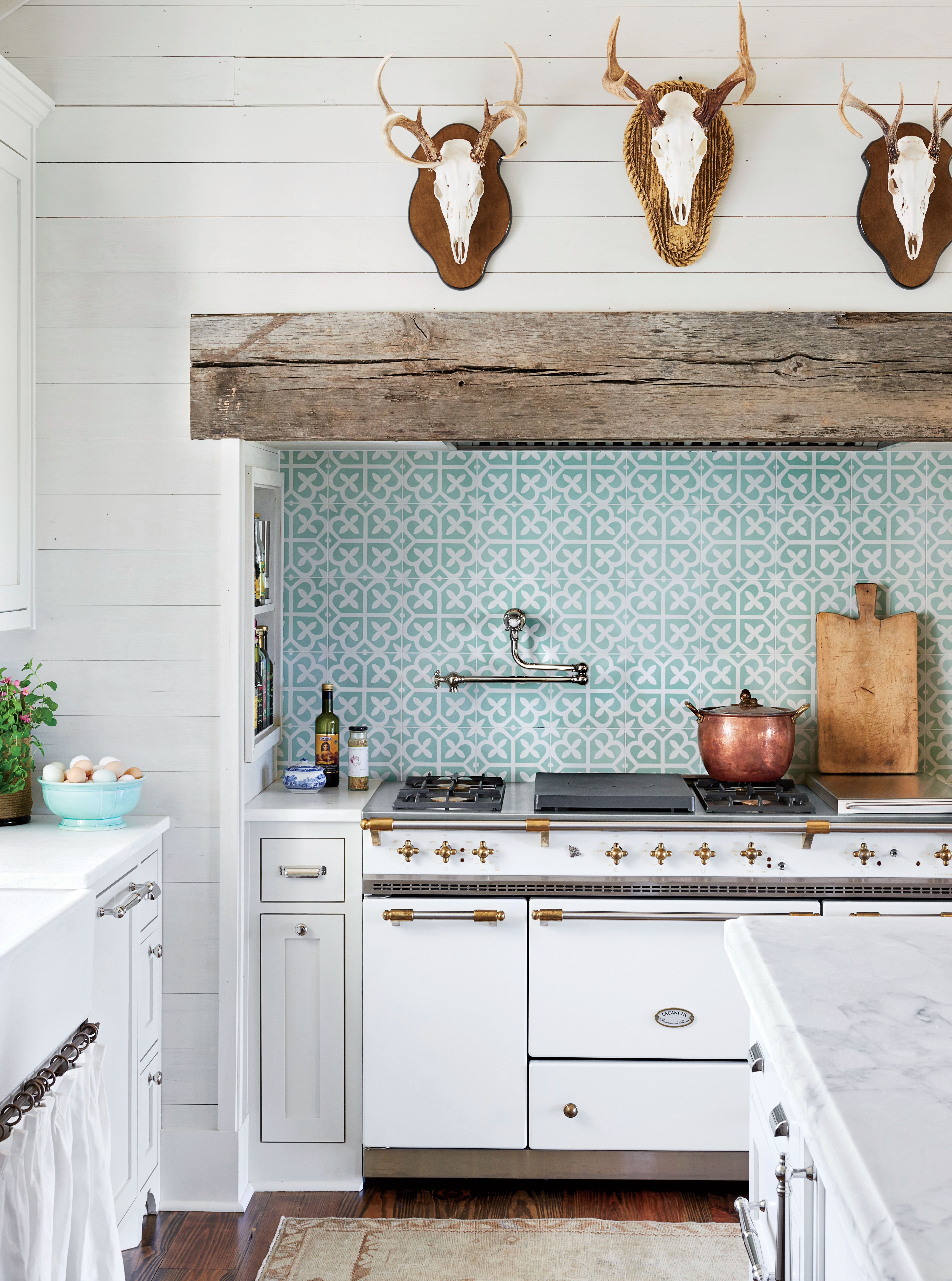 Bright And Airy Farmhouse Kitchen With Eclectic Vibe  Love