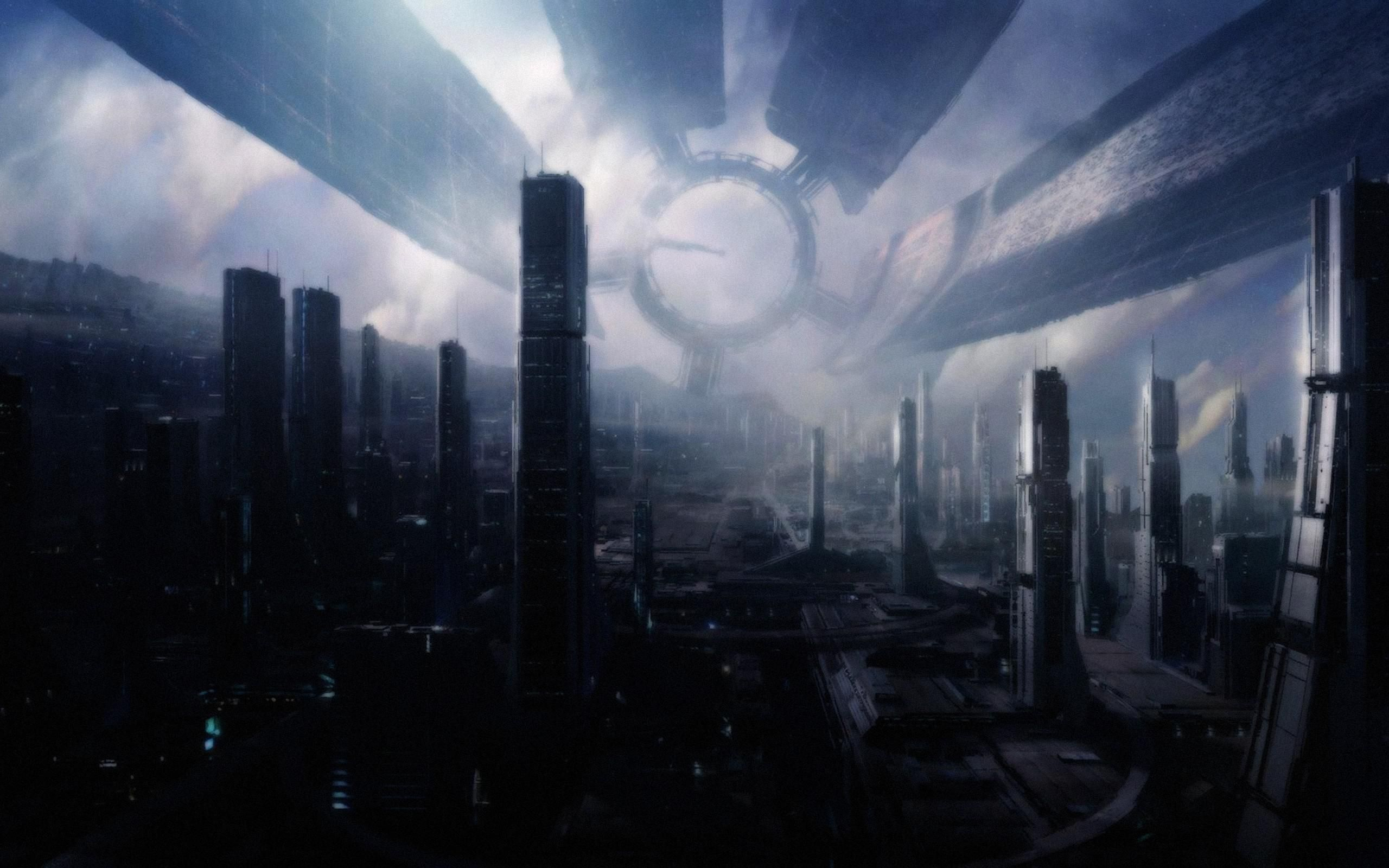 Mythia City Under The Dome Mass Effect Art Mass Effect