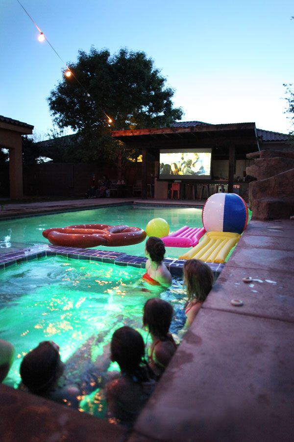 9f697d4234 How to Host a Pool Party Movie Night