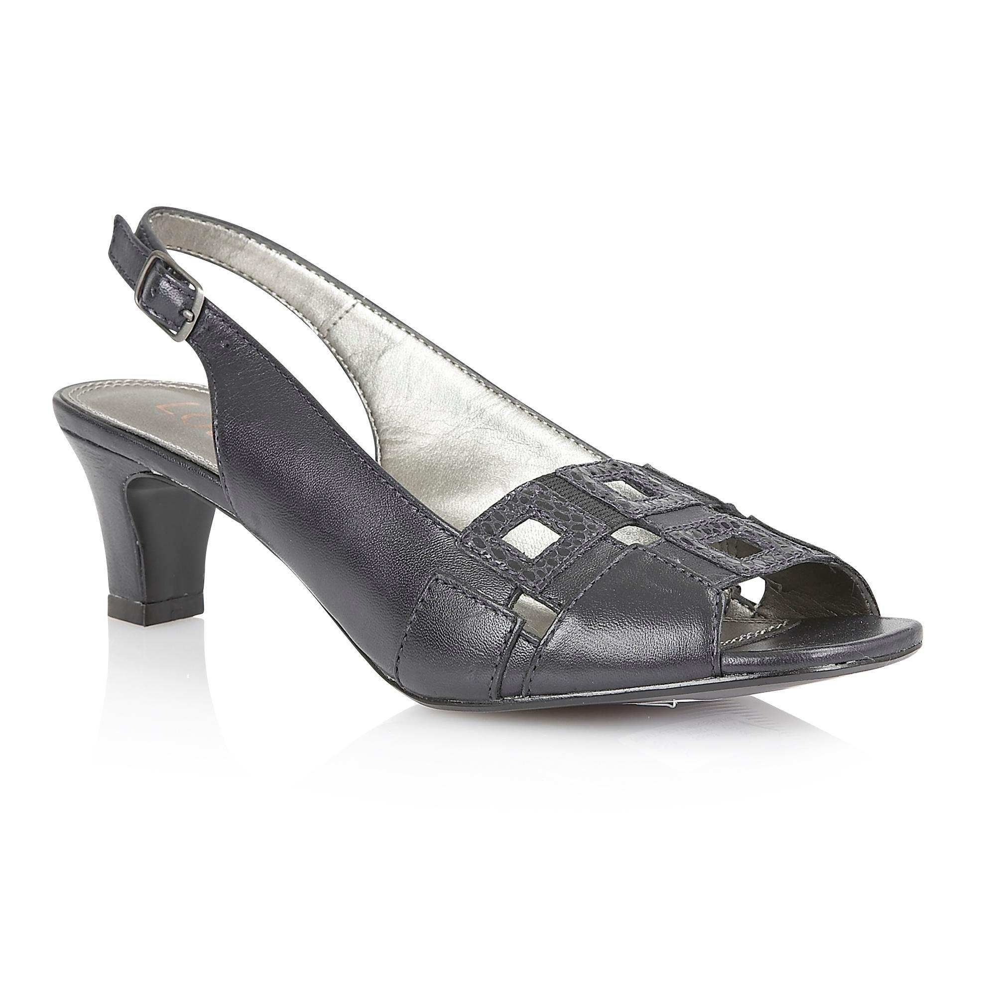 Lotus Zabry open toe shoes, Navy