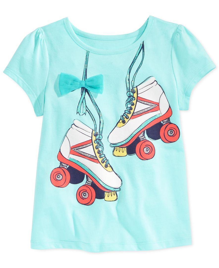 51aea35830870 Epic Threads Little Girls  Roller Skates T-Shirt