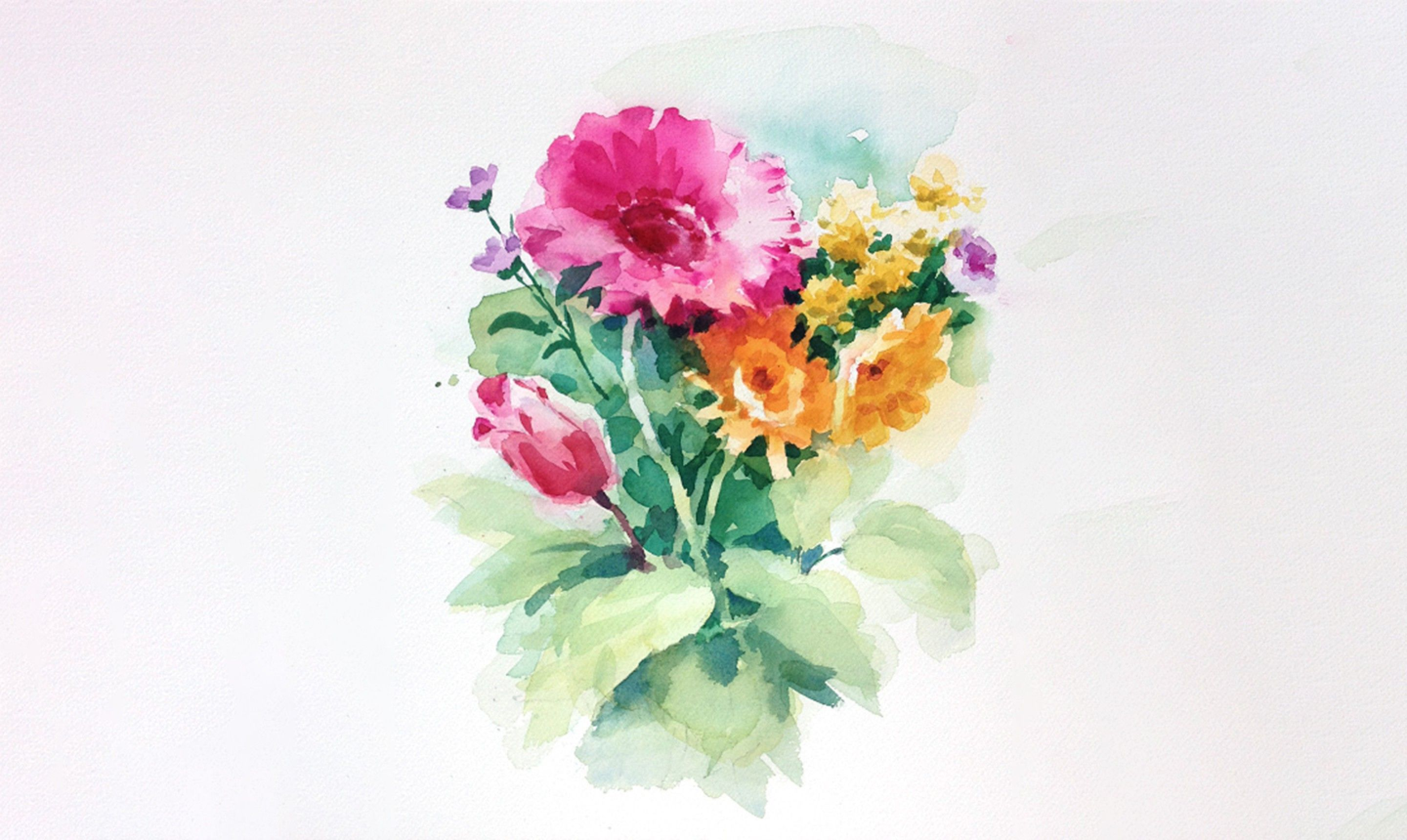 Paint A Gorgeous Watercolor Bouquet Abstract Flowers Watercolor