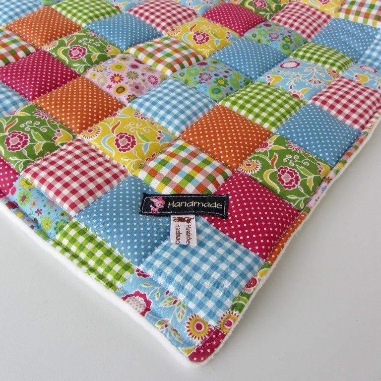 Patchworkdesign blanket, very colorful - handmade in Germany by Bluemchenstoff on Etsy https://www.etsy.com/au/listing/216910222/patchworkdesign-blanket-very-colorful