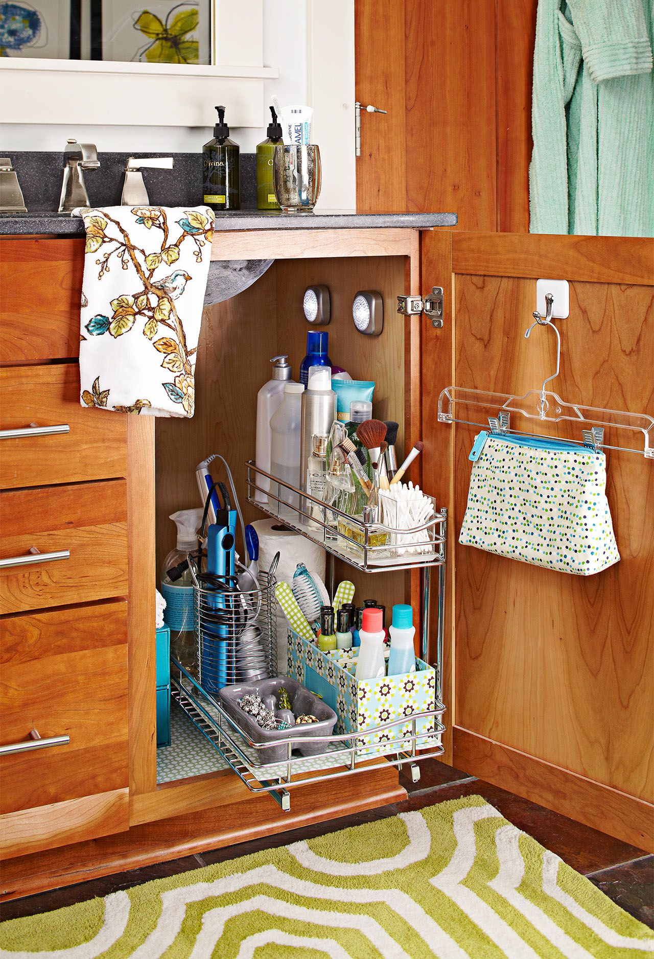 19 Clever Ways To Organize Bathroom Cabinets For A Quicker Morning Routine In 2020 Bathroom Storage Units Clever Bathroom Storage Bathroom Storage Solutions