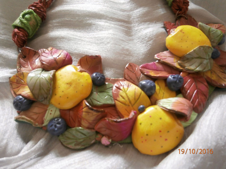 MELE AUTUNNALI mele gialle e foglie rosa, rosse, bordeaux di PaTrieste su Etsy